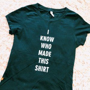 """KNOWN SUPPLY Tops - KNOWN SUPPLY Black """"I Know Who Made This"""" T-Shirt"""
